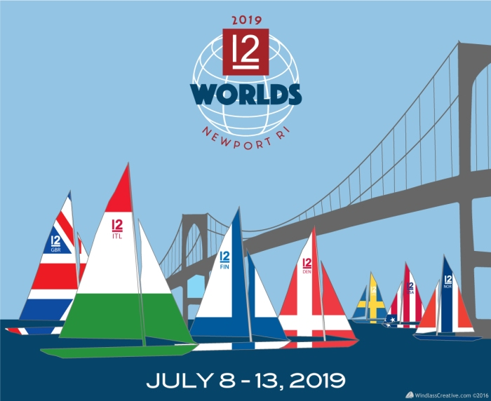 2019 12mR World Championship, artwork by Windlass Creative