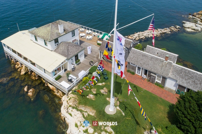 Ida Lewis Yacht Club during the 12 Metre Worlds