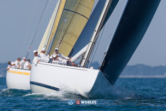Legacy (KZ-5) at the 12 Metre Worlds (Photo Credit: Ian Roman)