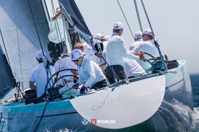 Courageous (US-26) at the 12 Metre Worlds