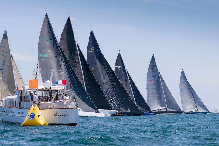 Start of the Modern Division on day four of the 2019 12 Metre World Championship.