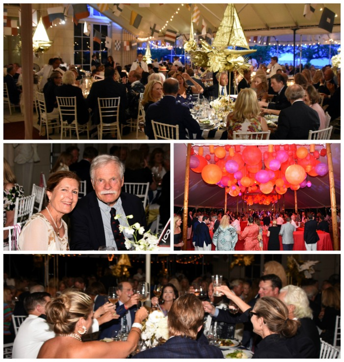 Ted Turner (with guest Carol Swift, second row left) joined the celebration at the 12 Metre Dinner Dance at the 2019 12 Metre Worlds (Photo Credit: SallyAnne Santos)