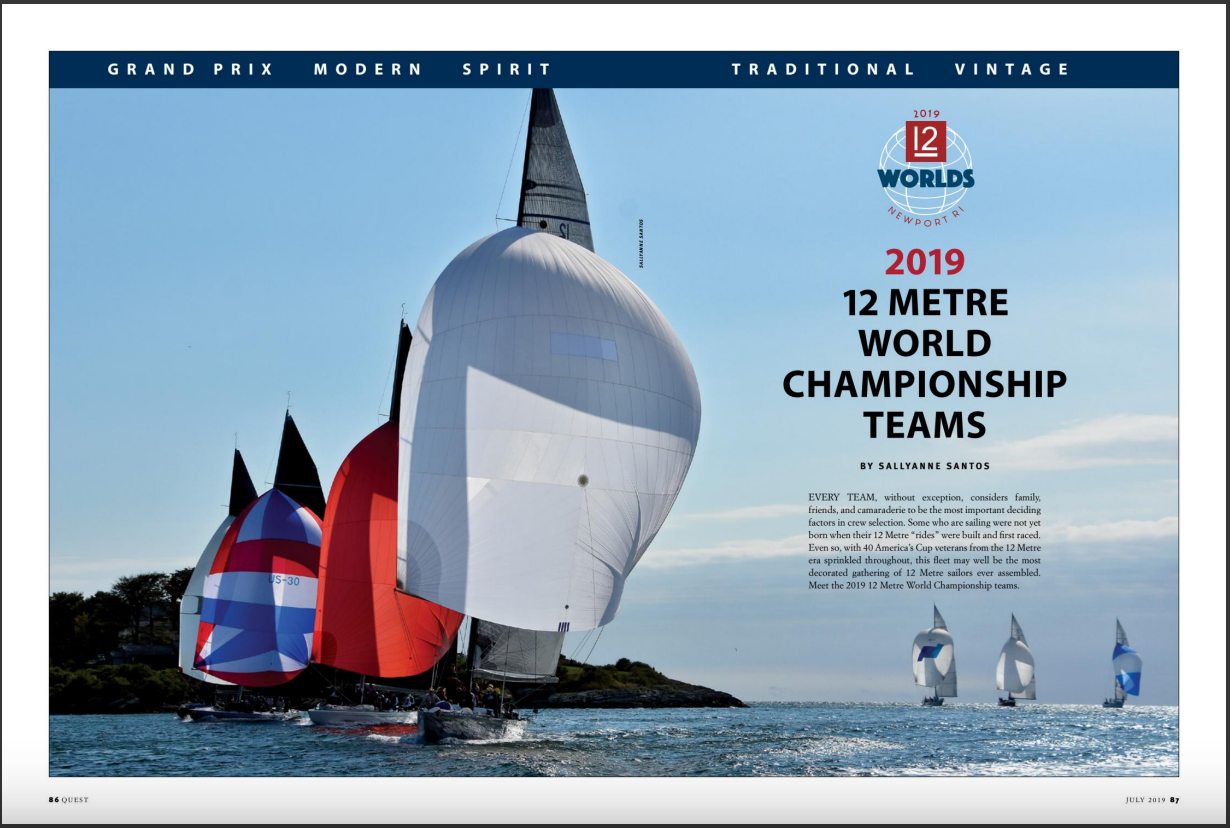2019 12 Metre World Championship program