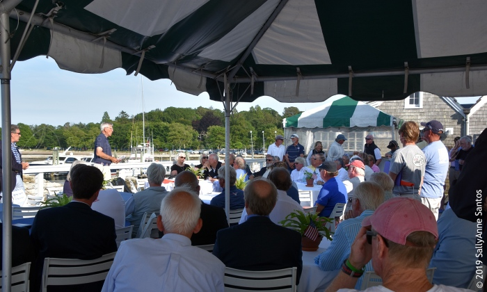 2019 12 Metre Worlds Skippers Meeting at Ida Lewis Yacht Club, Newport, RI