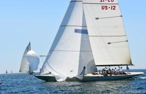 12mR Nyala, US-12 racing at the 2019 12mR World Championship at Newport, Rhode Island