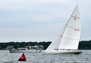 12mR Nyala, US-12 racing at the 2019 12mR World Championship at Newport, Rhode Island
