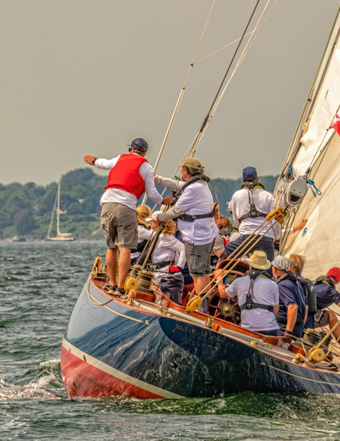 Blue Marlin racing at the 2019 12 Metre World Championship in Newport, RI - photo by: Chris Tucker