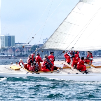 Vim, US-15 racing at the 2019 12mR European Championship