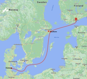 1300 Nm Baltic Sea Voyage from Flensburg to Helsinki