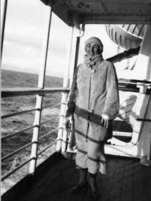 Nini Roll Anker at Sea. ~ photo courtesy Large Norwegian Encyclopedia