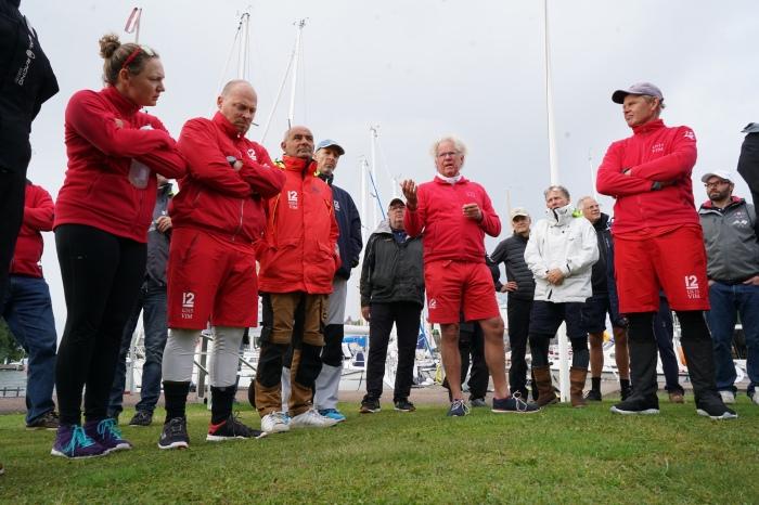 2021 Evli 12mR World Championship Skippers Meeting, August 19 | Kim Weckström